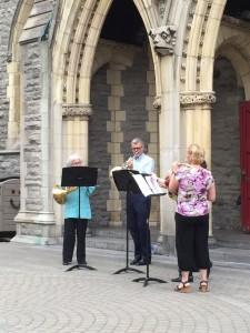 Wagner och Mahler i Cathédrale Christi Churh i Montreal, framförda av blåskvintetten. L'Ensemble de cors/Cortet Horn Ensemble.