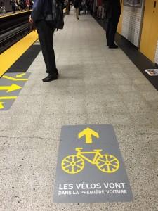 I Montreal kan cyklarna tas med i tunnelbanans första vagn.