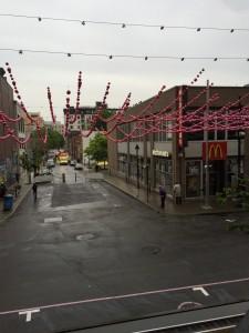 """Montreals dystra """"pusher street"""", där missbrukare och tiggare samlades."""
