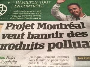 Metro i Montreal gör en snygg tidning.