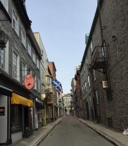 Gamla staden i Quebec - kunde vara inspelningsplats för En liten fransk stad.
